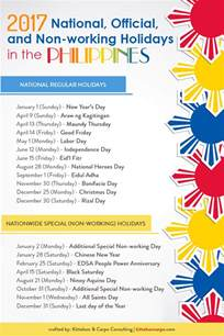 official  working holidays   philippines