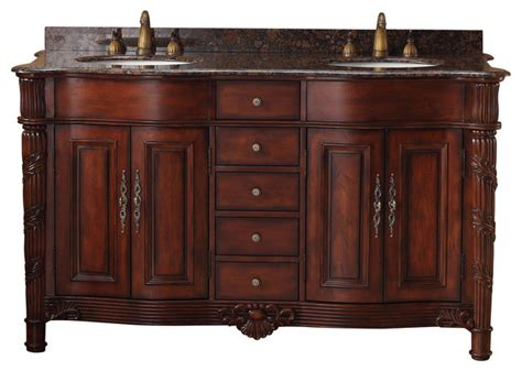 60 quot tuscany granite top vanity cherry