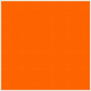 #FF6600 Hex Color | RGB: 255, 102, 0 | BLAZE ORANGE ...