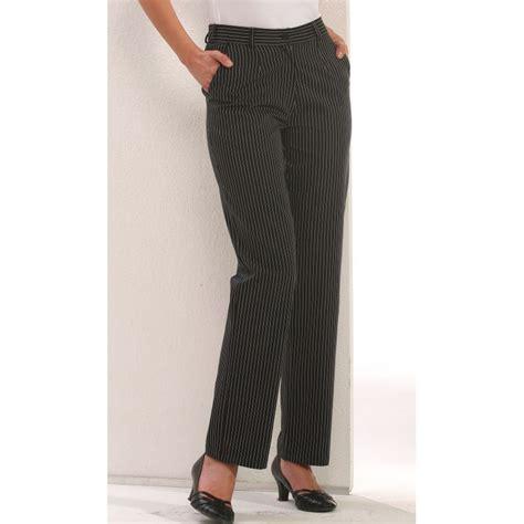 pantalon de cuisine noir pantalon de cuisine dame rayures noir et blanc