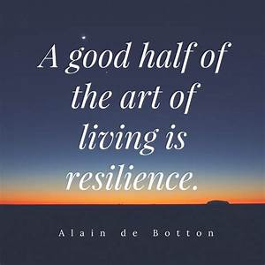 Quote by Alain de Botton - Resilience Institute