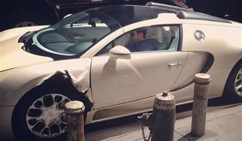 Bugatti Veyron Hit By Truck In New York City