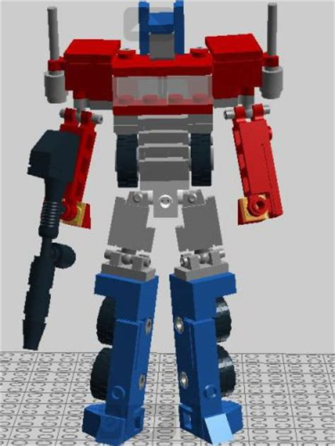 g1 mini lego optimus prime transforms a lego 174 creation