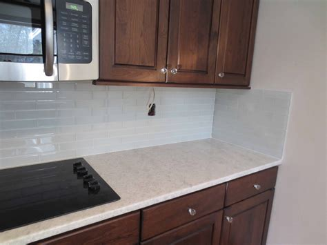how to install backsplash in kitchen interior faux kitchen countertops with glass tile subway