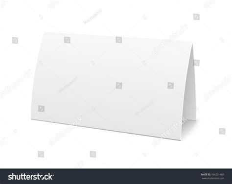 paper table card sign template vector stock vector