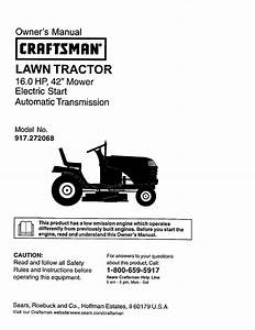 Craftsman Lawn Mower 917 272068 User Guide