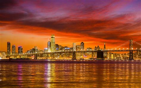 City Lights San Francisco by Wallpapers San Francisco Evening Sunset City