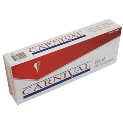 Carnival Red 100s  Budget Brands  Cigarettes Texas