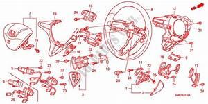 Steering Wheel  Srs  For Honda Cars Civic 2 0 Type R 3