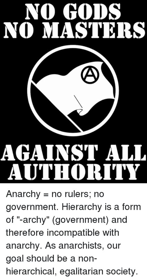 no gods no masters against all authority anarchy no