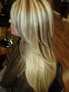 Gorgeous Long Layered Light Blonde Hair With Dark Brown