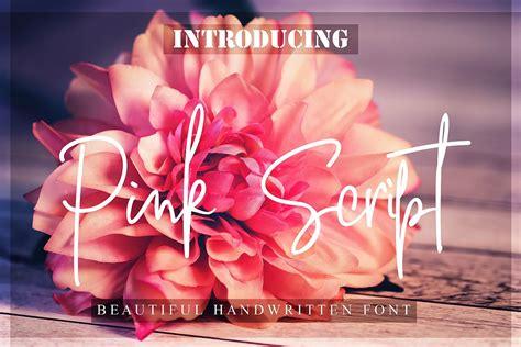 pink script font befontscom