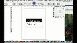 Adobe Indesign Cs5 Tutorial - Working With Text