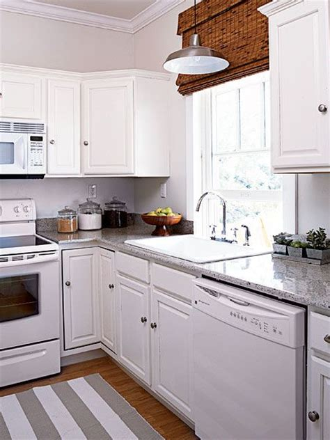 White Kitchen Appliances Disappear Against Coordinating