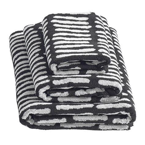 black and white towels bathroom buy hay he she it towel black amara 22757