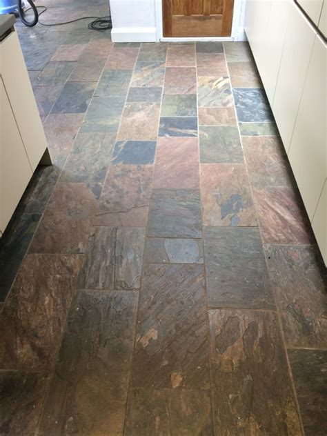 Revamping Dirty Slate Tiles  Stone Cleaning And Polishing