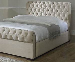 Brand, New, Chesterfield, Deep, Buttoned, Double, Bed, Frame