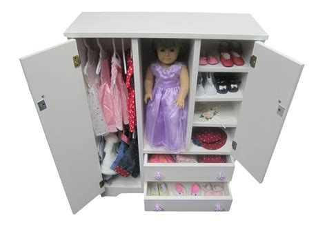 Buy Armoire Closet by Doll Wardrobe Armoire Fits 18 Quot Doll Furniture Storage