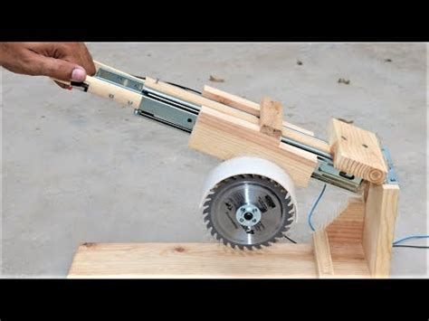 How To Make A Useful Saw Machine  Diy Miter Saw Youtube