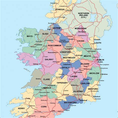 ireland political map netmaps mapas de espana  del mundo