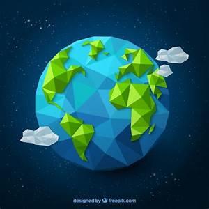 Polygonal earth Vector | Free Download