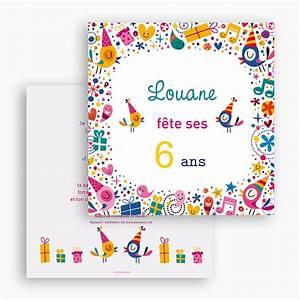 Invitation Anniversaire Fille 9 Ans : carte invitation anniversaire fille 6 ans minimalist ~ Melissatoandfro.com Idées de Décoration