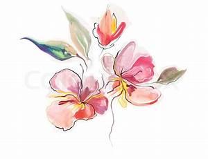 Aquarell Blumen Malen : blumen aquarell abbildung stockfoto colourbox ~ Frokenaadalensverden.com Haus und Dekorationen