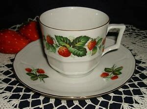 foto de BAREUTHER WALDSASSEN STRAWBERRY TEA or COFFEE CUP & SAUCER