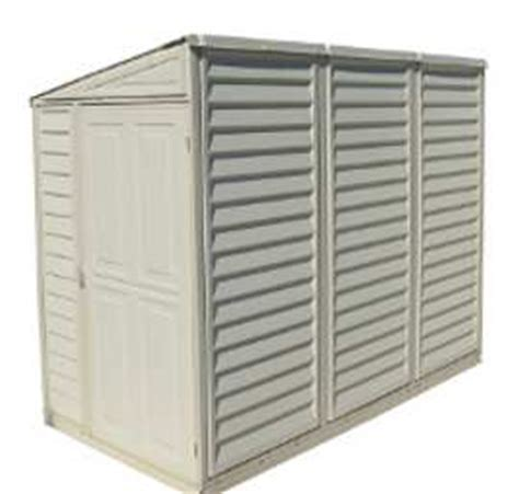 duramax 4x8 sidemate vinyl shed with foundation 06625