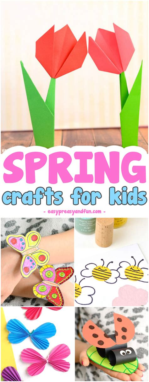 crafts for and craft project ideas for 972 | Super fun Spring Crafts for Kids. Fun craft ideas and crafts with printable templates.