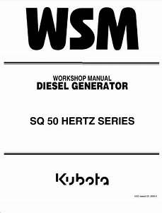 Kubota Sq 50 Hertz Series Diesel Generators Workshop Pdf