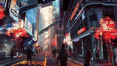 Cyberpunk Digital Future Wallpapers 4k Artwork Artist