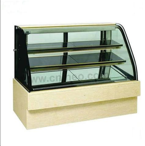 led lights wood display cabinets butter icecream glass