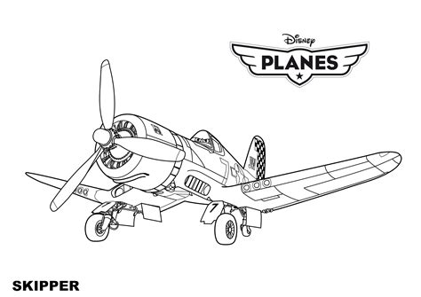 Kleurplaat Skipper by Disney Planes Coloring Pages Skipper Kleurplaten Siebe
