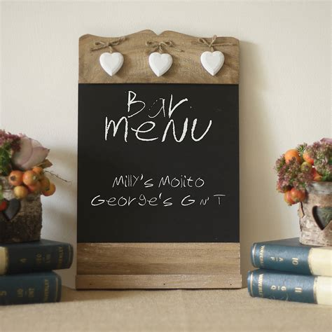 Kitchen Desk Ideas - blackboard noticeboard sign by the wedding of my dreams notonthehighstreet com