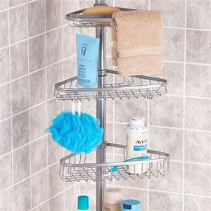 Étagère De Douche : etag re de douche t lescopique rangement salle de bain ~ Voncanada.com Idées de Décoration