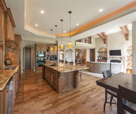 kitchen island light height great room floor plans kitchen traditional with open