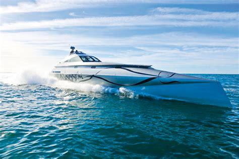 Catamaran Boat Suspension by Hydraulic Suspension Powercat Motor Boat Yachting
