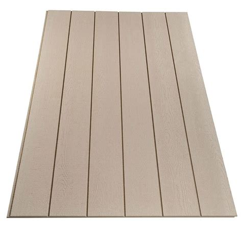 Plywood Siding Panel DuraTemp Primed 8 IN OC (Common: 19