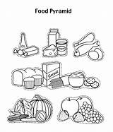 Pyramid Coloring Pages Drawing Glow Grow Foods Printable Healthy Cereal Fruit Sheets Yogurt Azcoloring Worksheet Nutrition Printables Tablet Groups Preschool sketch template