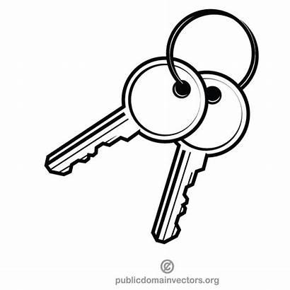 Keys Clip Key Clipart Apartment Vector Pair
