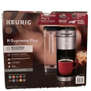 — enter your full delivery address (including a zip code and an apartment number), personal details, phone number, and an email address.check the details provided and confirm them. Keurig K-Supreme Plus C Single Serve Coffee Maker, with 15 K-Cup Pods | eBay