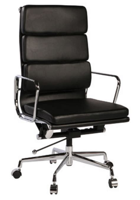 8 stylish black leather high back executive chairs