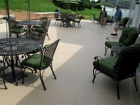 commercial patio rubber coating kote decorative