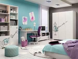 Flieder Farbe Wand : kinderzimmer wandgestaltung 50 ideen mit farbe tapete ~ Markanthonyermac.com Haus und Dekorationen
