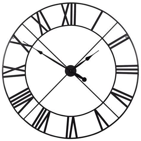 Black Skeleton Large Metal Wall Clock Furniture   La
