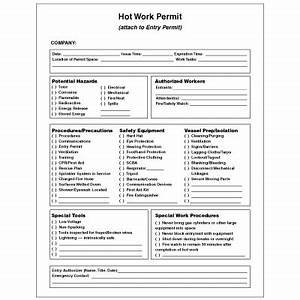 mining security forms hot work permit seton With hot work permit template free