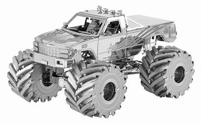 Monster Truck Metal Earth Fascinations Vehicles 3d