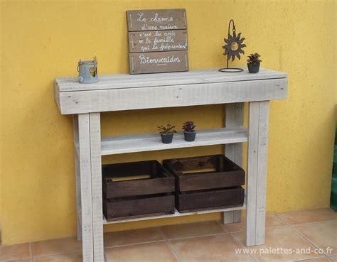 modele de plan de travail cuisine console en bois de palettes meubles palettes and co