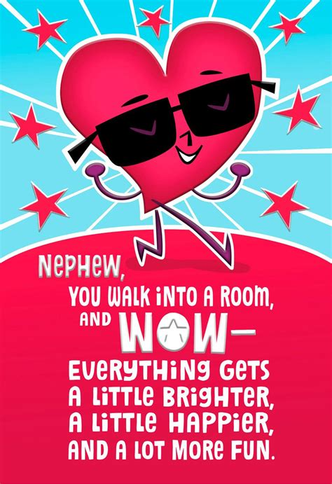 Awesome Effectlentines Day Card For Nephew Greeting
